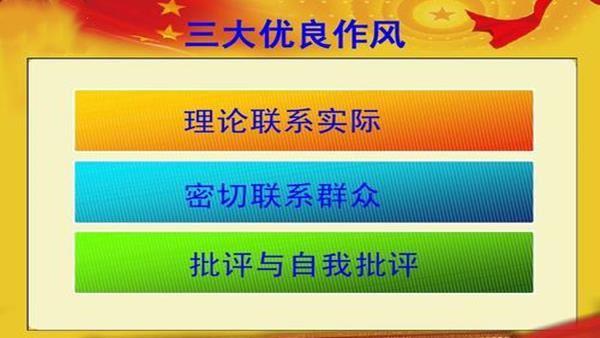"""党性教育培训课:党的""""三大作风"""""""